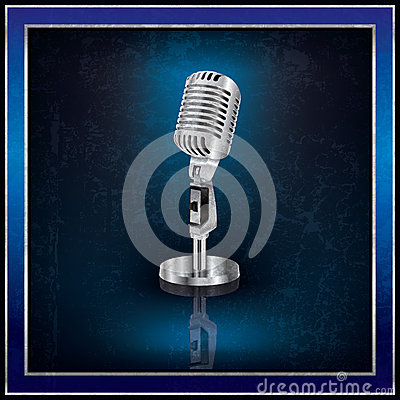 Abstract background with the retro microphone