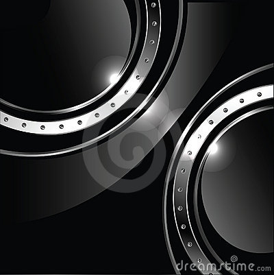 Abstract background with round glossy banner and m