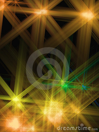 Abstract background with a shone Yellow star