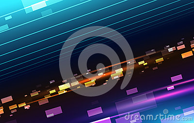 Abstract background with square particles