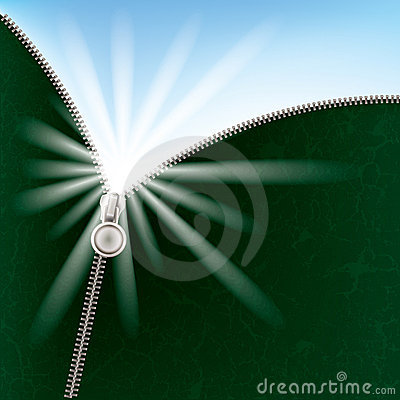 Abstract background with sunlight and zipper