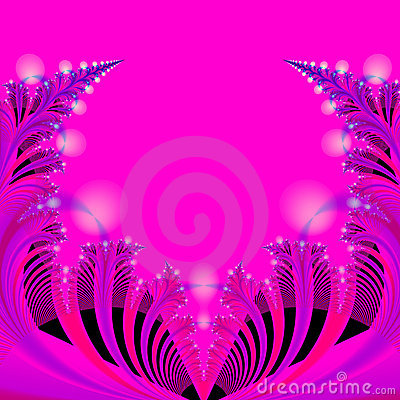 Abstract Background Template in Hot pink, Blue, Black and Red
