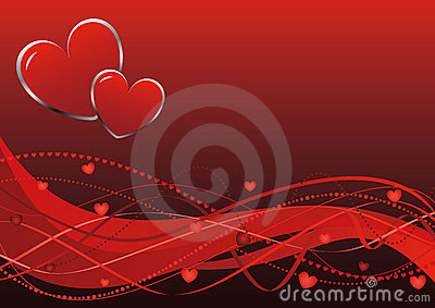 Abstract background - Valentine s day waves