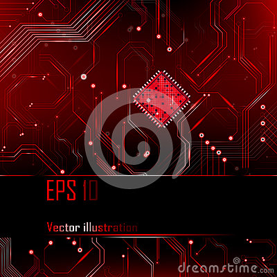 Abstract background. Vector illustration. Processor.