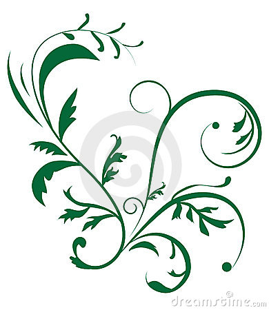 Abstract background with vegetal ornament