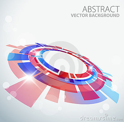 Free Abstract Background With 3D Red And Blue Object Royalty Free Stock Image - 18253666