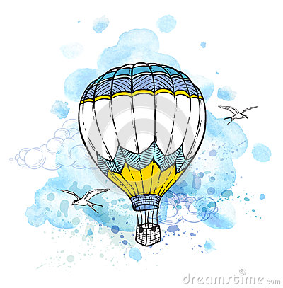 Free Abstract Background With Air Balloon Stock Photography - 73176242