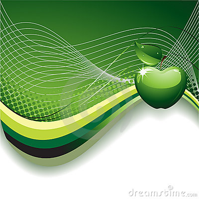 Free Abstract Background With Apple Royalty Free Stock Image - 13721406