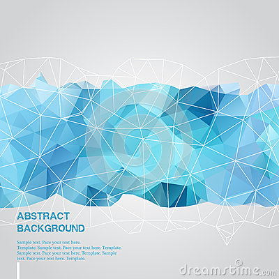 Free Abstract Background With Blue Triangles Template Royalty Free Stock Photos - 42054978