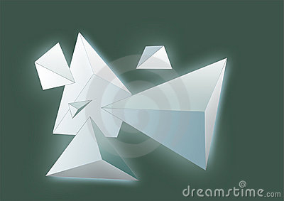 Abstract backgrounds pyramids