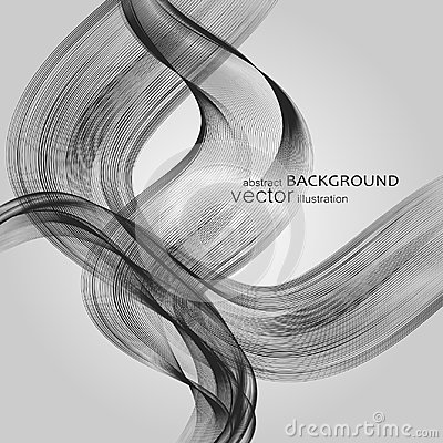 Free Abstract Backgrounds With Colorful Wavy Lines. Elegant Wave Design. Vector Technology. Stock Images - 110738544