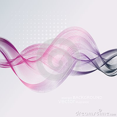 Free Abstract Backgrounds With Colorful Wavy Lines. Elegant Wave Design. Vector Technology. Royalty Free Stock Photo - 110738545