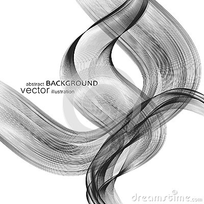Free Abstract Backgrounds With Colorful Wavy Lines. Elegant Wave Design. Vector Technology. Stock Photography - 110738582