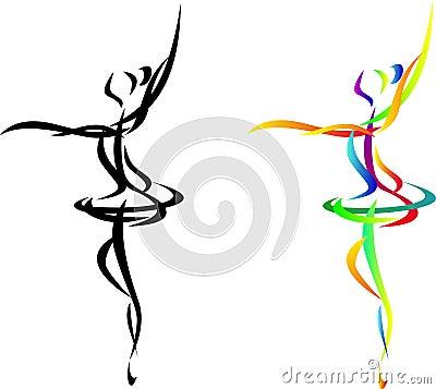 Abstract ballet dancer