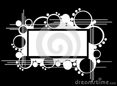Abstract banner with circles