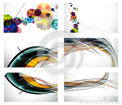 Abstract banner with forms