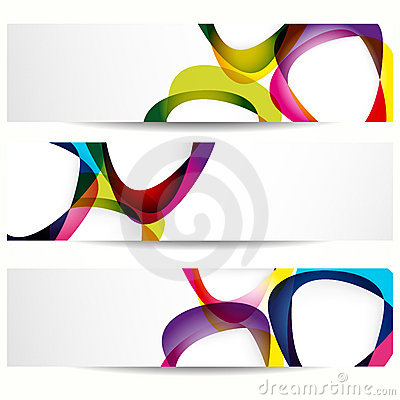 Abstract banner with forms of mediator.
