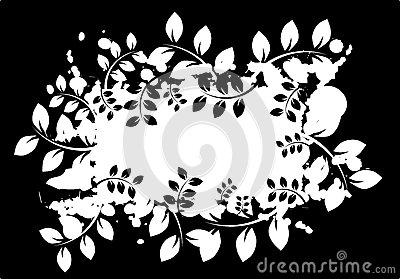 Abstract banner with leaves