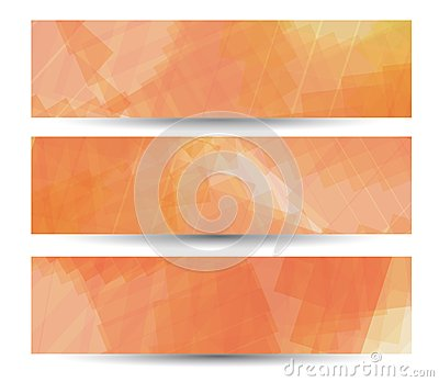 Abstract banner for your design, colorful digital