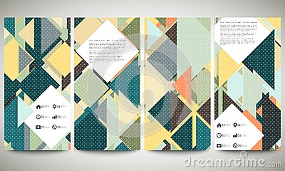 Abstract Banners Collection, Flyer Layouts Stock Vector - Image ...