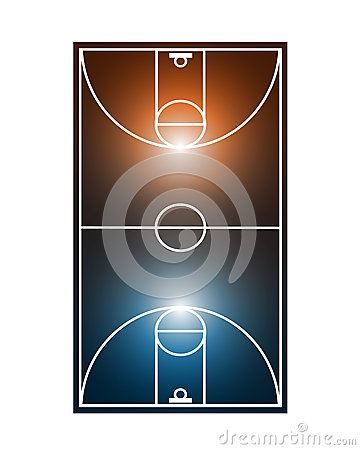 Abstract basketball field