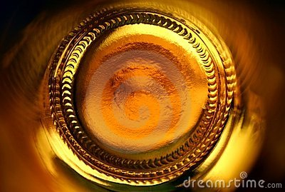 Abstract beer bottle