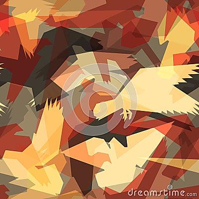 Abstract bird tile