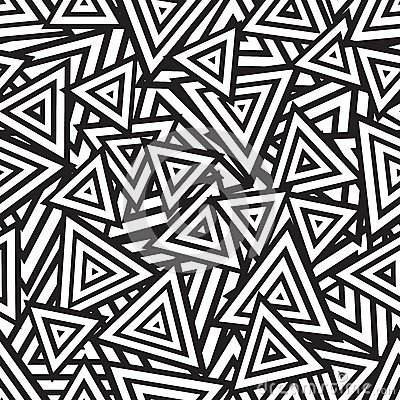 Free Abstract Black And White Seamless Pattern. Vector Royalty Free Stock Photos - 37664438