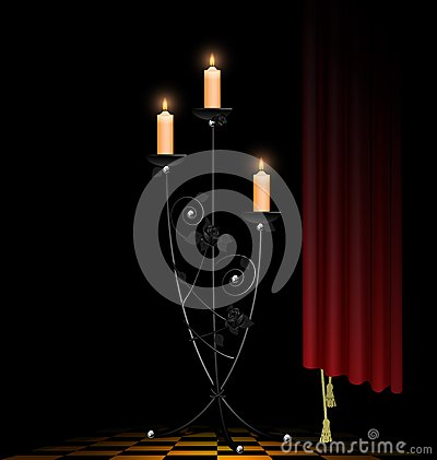 Abstract black chandelier