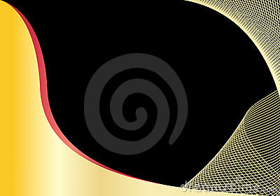 Abstract black and gold background with copyspace
