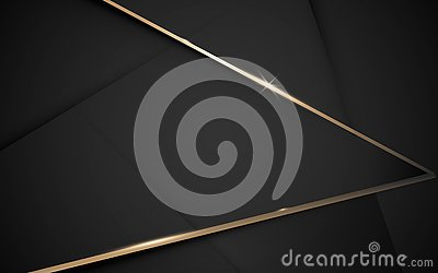 Abstract black and gold luxury geometric background. Illustration vector Vector Illustration