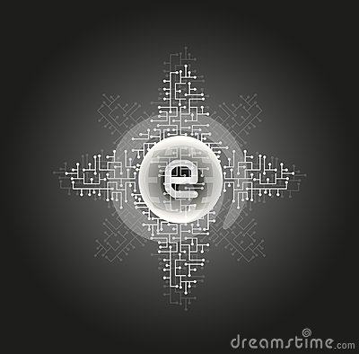 Abstract black internet background
