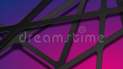 Abstract black papercut stripes on blue purple background video animation 股票视频