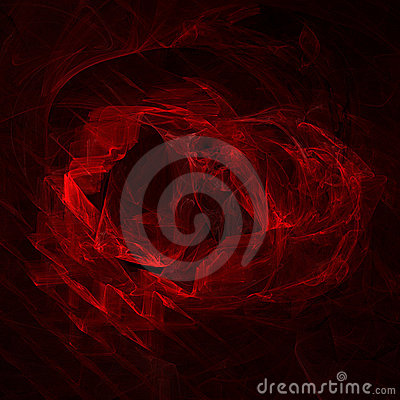 Abstract black and red fractal background