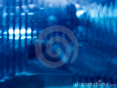 Abstract blauw licht