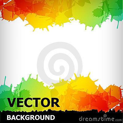 The abstract blot colorful background