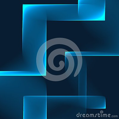 Free Abstract Blue Background. Bright Blue Blocks On The Dark Blue Background. Geometric Pattern In Blue Colors. Royalty Free Stock Photos - 49308038