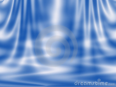 Abstract blue background - curtain and waves