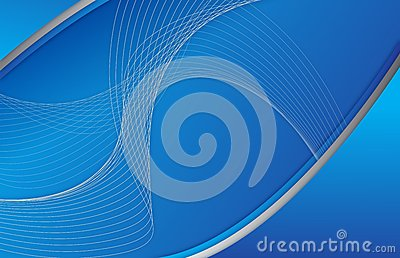 Abstract blue background wave illustration