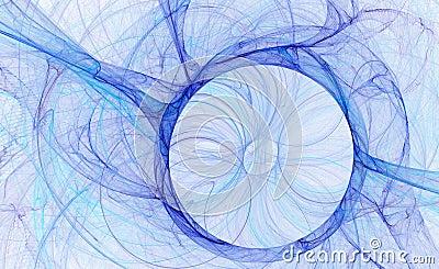 Abstract blue circle