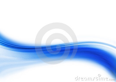 Abstract blue curving line