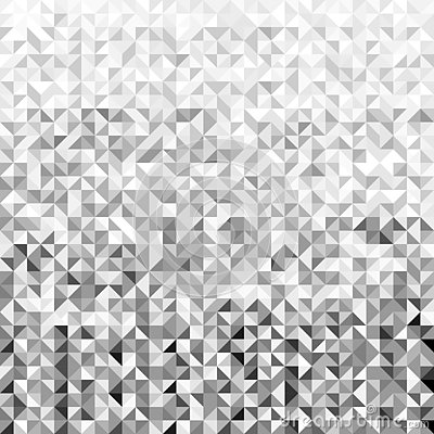Black and white gradient abstract geometric shape seamless pattern background. Vector Illustration