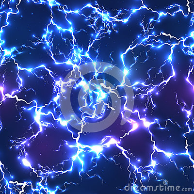 Free Abstract Blue Electric Lightning Seamless Pattern Royalty Free Stock Photo - 45607785