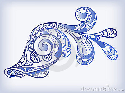 Abstract blue fish