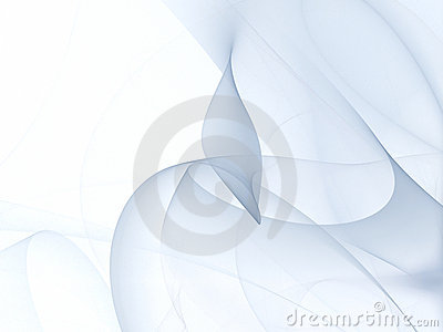 Abstract blue fractal folds