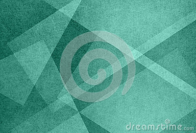 Abstract blue green background with triangle shapes and diagonal line design elements Stock Photo