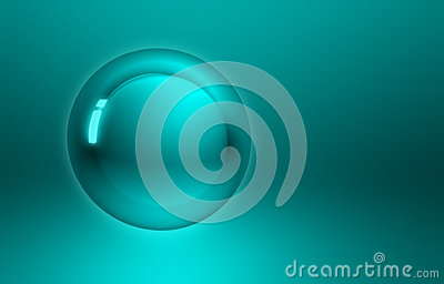 Abstract blue green button sphere