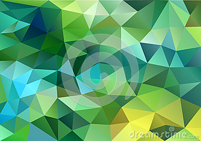Abstract blue and green low poly background, vector Vector Illustration