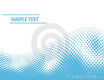 Abstract blue halftone wave