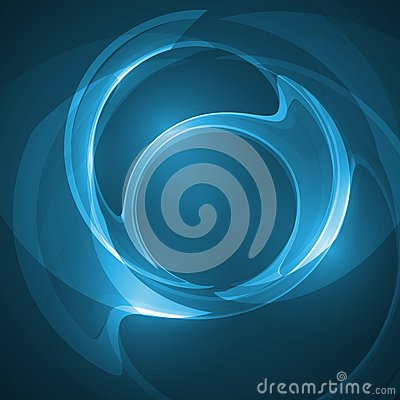 Abstract blue illustration